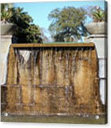 Large Water Fountain Acrylic Print