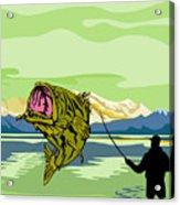 Largemouth Bass Fish Jumping Acrylic Print