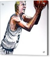 Larry Bird Acrylic Print by Dave Olsen