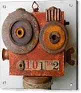 Larry The Robot Acrylic Print by Jen Hardwick