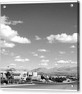 Las Cruces Mountains Black And White Acrylic Print