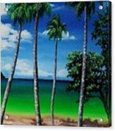 Las Cuevas Bay Acrylic Print