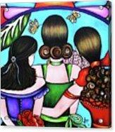 Las Tres Rosas Acrylic Print