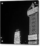 Las Vegas 1980 Bw #7 Acrylic Print