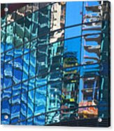 Las Vegas City Center Reflection Acrylic Print