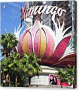 Las Vegas Flamingo Hotel Lotus Blossom Acrylic Print by Linda Phelps