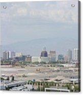 Las Vegas Pano Section 3 Of 3 Acrylic Print