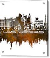 Las Vegas Skyline City Brown Acrylic Print