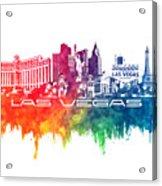 Las Vegas Skyline City Color Acrylic Print