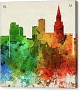 Las Vegas Skyline Panorama Usnvlv-pa03 Acrylic Print