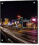 Las Vegas Strip At Night Acrylic Print