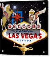 Las Vegas Symbolic Sign Acrylic Print