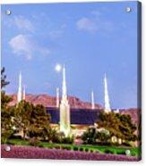 Las Vegas Temple Moon Acrylic Print