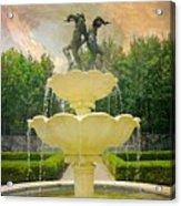 Lasdon Fountain Garden Acrylic Print