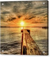 Last Call At Sunset Dock Acrylic Print