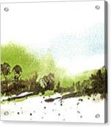 Last Green Of The Season Acrylic Print