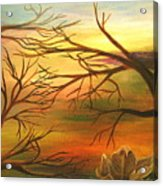 Last Leaf Of Fall Acrylic Print