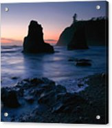 Last Light At Ruby Beach Acrylic Print