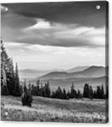 Last Light Of Day In Bw Acrylic Print