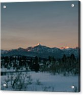 Last Light On Pagosa Peak Acrylic Print