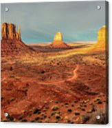 Last Light Over Monument Valley Acrylic Print