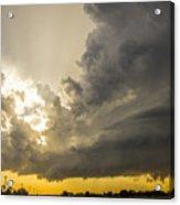 Last Nebraska Supercell Of The Summer 024 Acrylic Print
