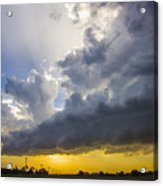 Last Nebraska Supercell Of The Summer 043 Acrylic Print
