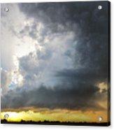 Last Nebraska Supercell Of The Summer 045 Acrylic Print