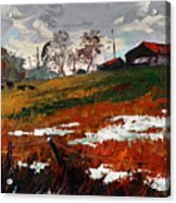 Last Patches Of Snow Acrylic Print