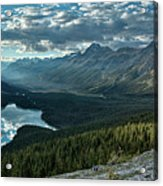 Last Rays Of Light Over Peyto Lake Acrylic Print