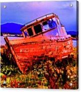 Last Red Boat Acrylic Print