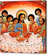 Last Supper Angels Acrylic Print