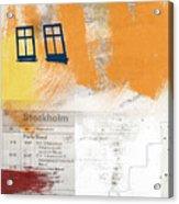 Last Train To Stockholm- Art By Linda Woods Acrylic Print