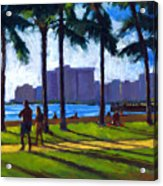 Late Afternoon - Queen's Surf Acrylic Print