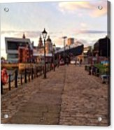 Late Afternoon At Albert Dock Acrylic Print