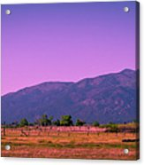 Late Afternoon In Taos Acrylic Print