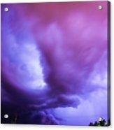 Late Night Nebraska Shelf Cloud 001 Acrylic Print