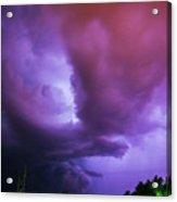 Late Night Nebraska Shelf Cloud 002 Acrylic Print