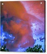 Late Night Nebraska Shelf Cloud 010 Acrylic Print