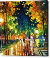 Late Night - Palette Knife Oil Painting On Canvas By Leonid Afremov Acrylic Print
