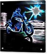 Late Night Street Racing Acrylic Print