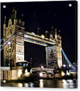 Late Night Tower Bridge Acrylic Print by Elena Elisseeva