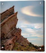 Late On Vasquez Rocks By Mike-hope Acrylic Print