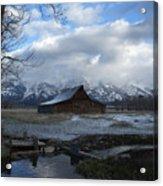 Late Snow On South Moulton Barn Acrylic Print