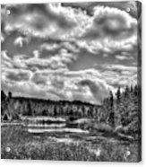 Late Winter At The Tobie Trail Bridge 2 Acrylic Print
