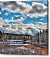 Late Winter At The Tobie Trail Bridge Acrylic Print