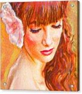Latina Beauty Acrylic Print