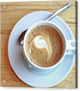 Latte Coffee Drink Acrylic Print