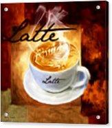 Latte Acrylic Print by Lourry Legarde