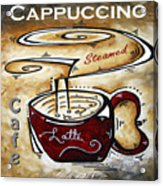 Latte Original Painting Madart Acrylic Print
